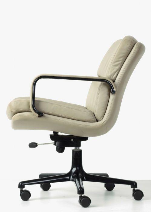 Artifort Bureaustoel Vintage.Geoffrey Harcourt Voor Artifort F 142 Leren Bureaustoel