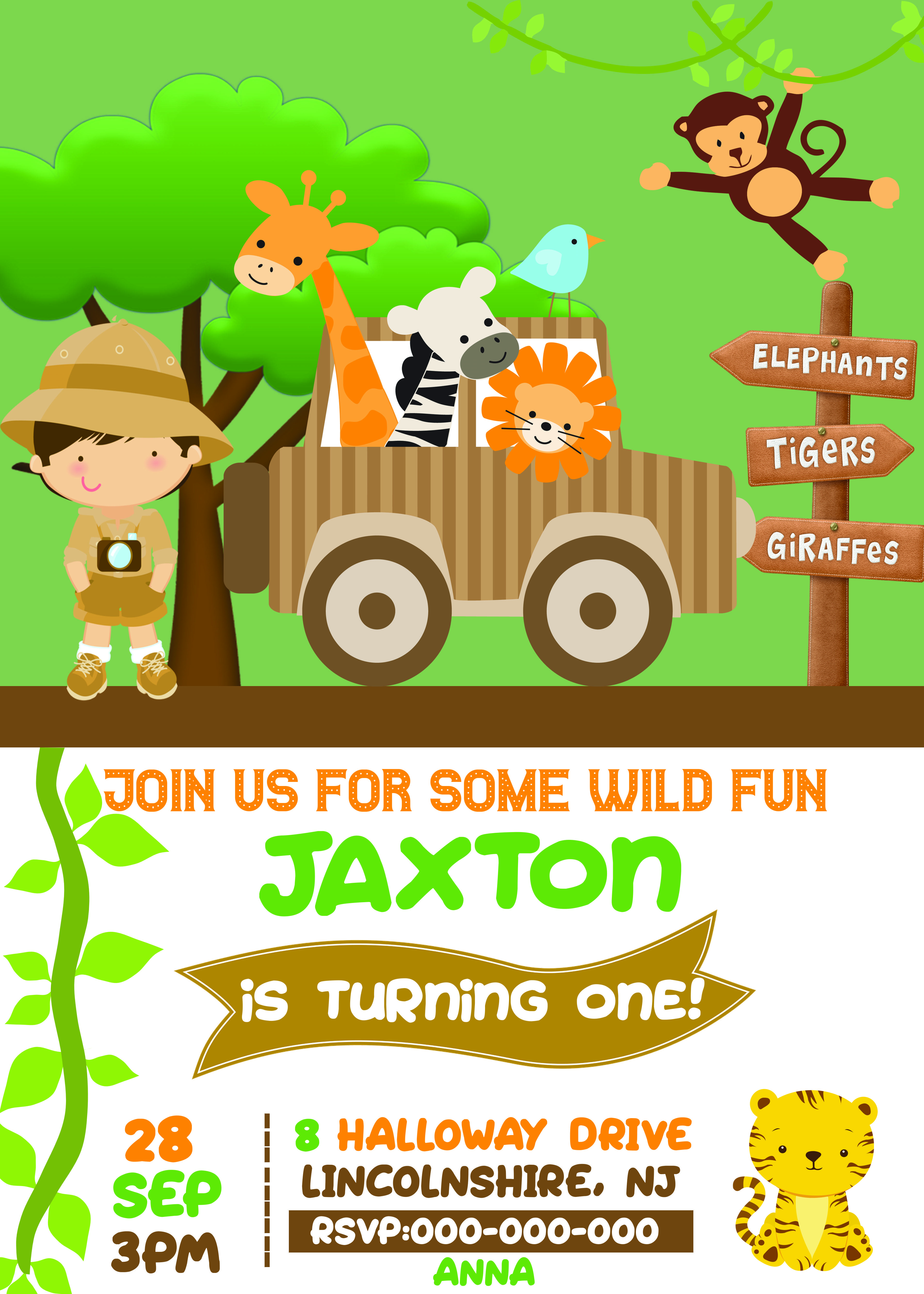 Safari Birthday Party. Safari Theme. Safari Invitations Boys