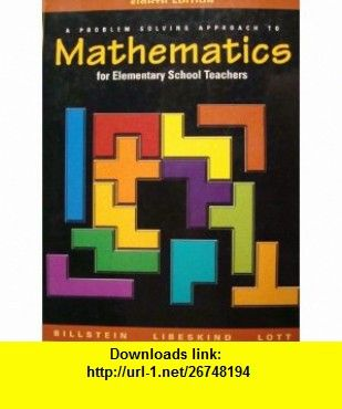 Mathematics For Elementary School Teachers A Problem Solving