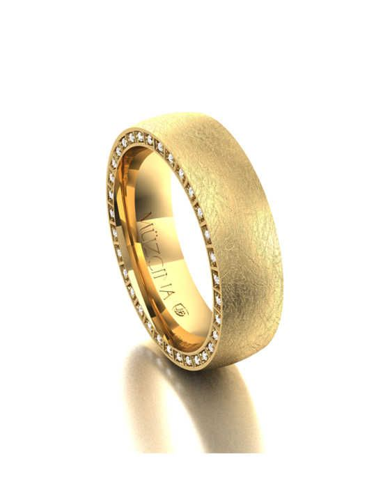 MÜZCINA by JJBückar BX31-H-100-D-XX-EA-14Y-SX-65 Gold Wedding Ring