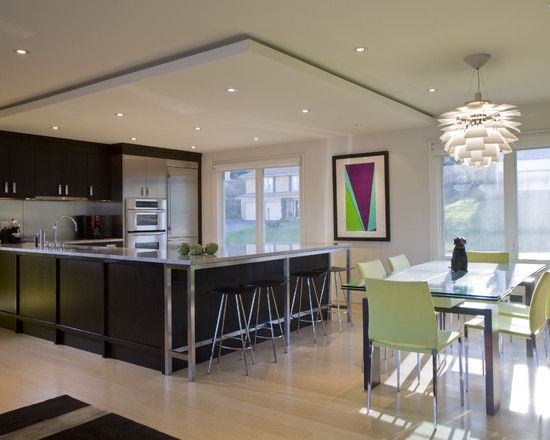 Modern condo kitchen design pictures remodel decor and for Condo ceiling design