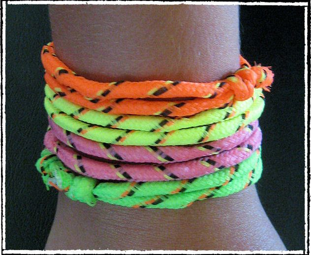 80's friendship bracelets! OMG I had so many. Used to get them from the bookmobile too:) lol