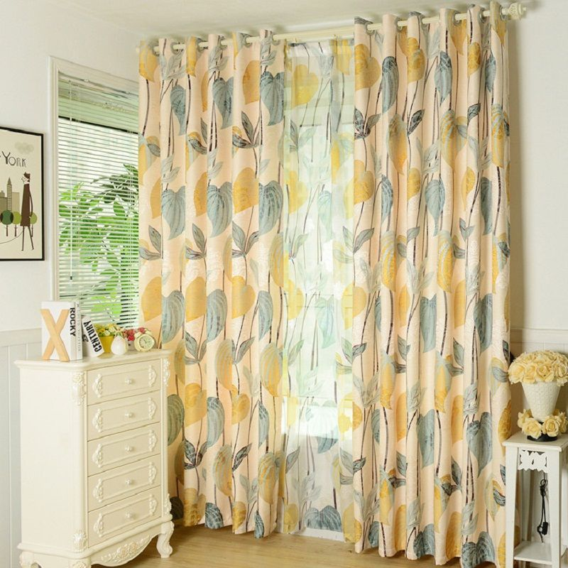 Blackout Curtain For Living room Bedroom American Country Style ...