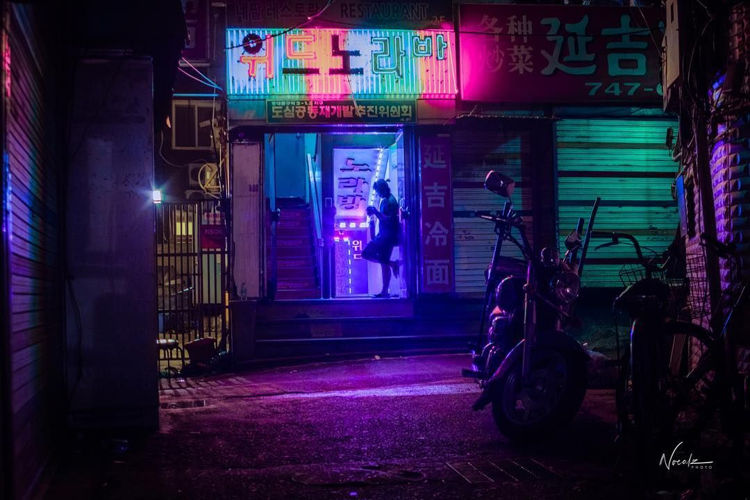 Seoul At Night In Neon-Noir Through The Lens Of Photographer