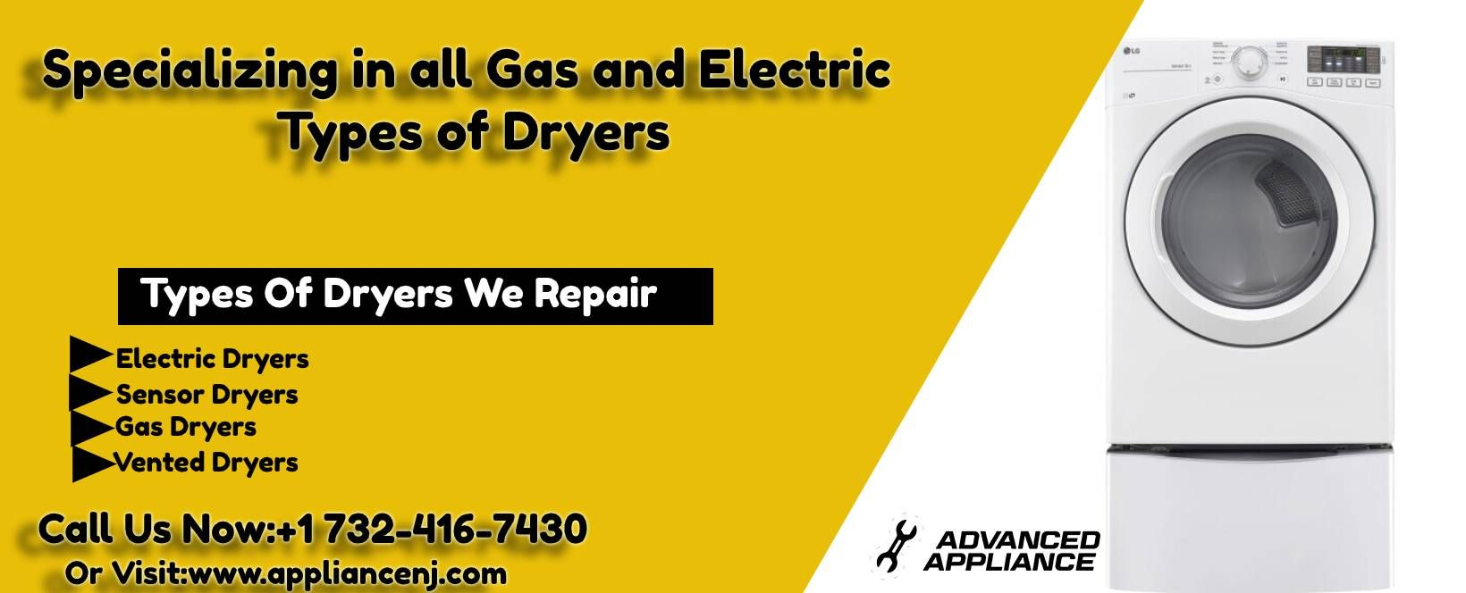 Dryer Repair Service In Monmouth Middlesex Counties Nj With Images Appliance Repair Repair Gas And Electric
