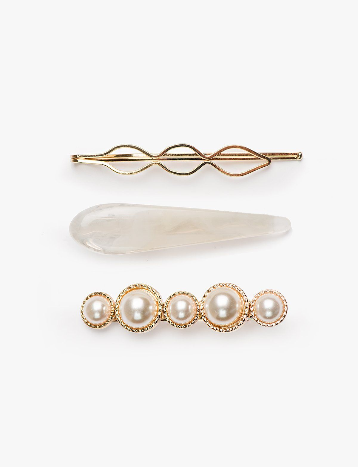 7f99a11f655260 Pearl Gold and Enamel Clip Set   Wish List in 2019   Jewelry, Gold ...