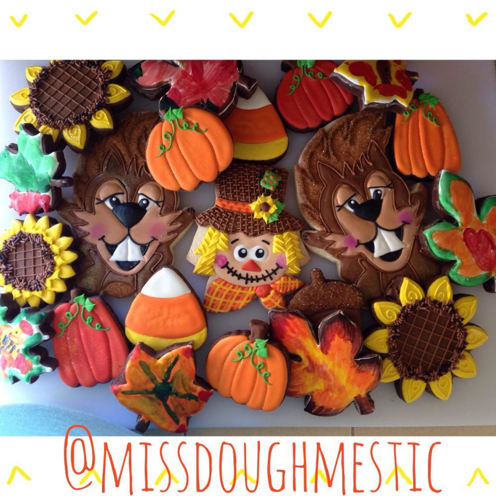 Festive Fall Goodies By Miss Doughmestic Fall decorated