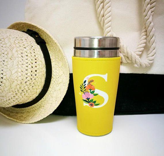 travel mug monogram coffee travel mug personalised tumbler