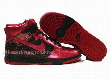 wholesale dealer 2cec0 48e63 womens nike dunk high top shoes black red sand - in buy nike shoes .