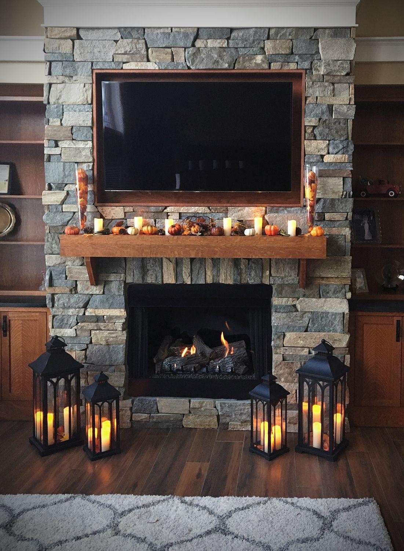 Photo of Stone Fireplace Mantel Decor Idea Brings Style to Season – Tailored Field Ledge Stone Veneer Buechel