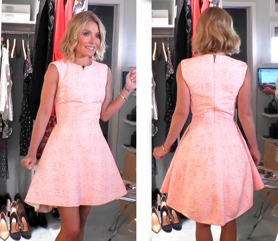 Today Kelly Ripa wore a gorgeous pink Christian Dior dress ...