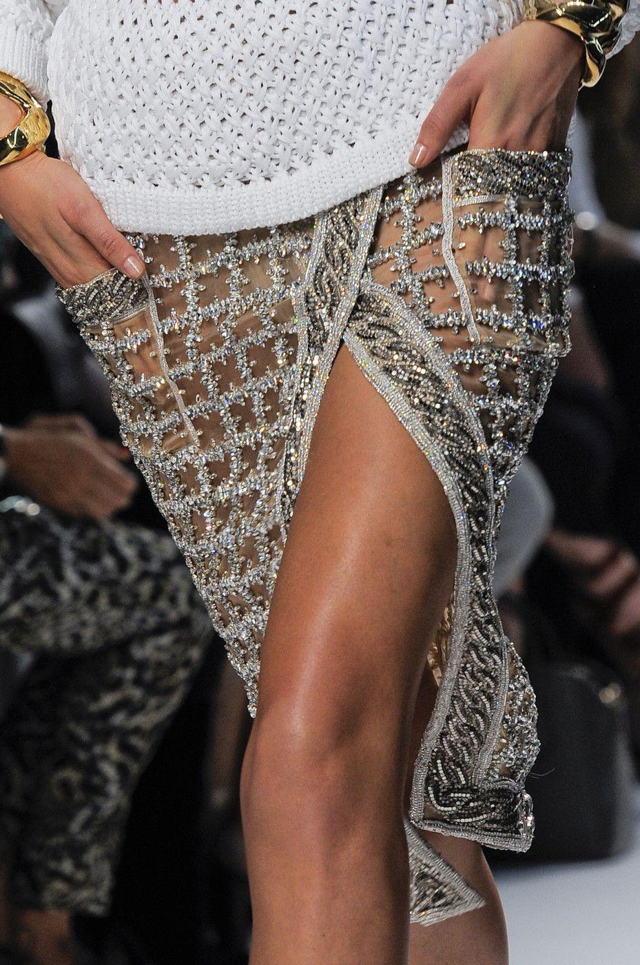 Balmain at Paris Fashion Week Spring 2014 #springskirtsoutfits