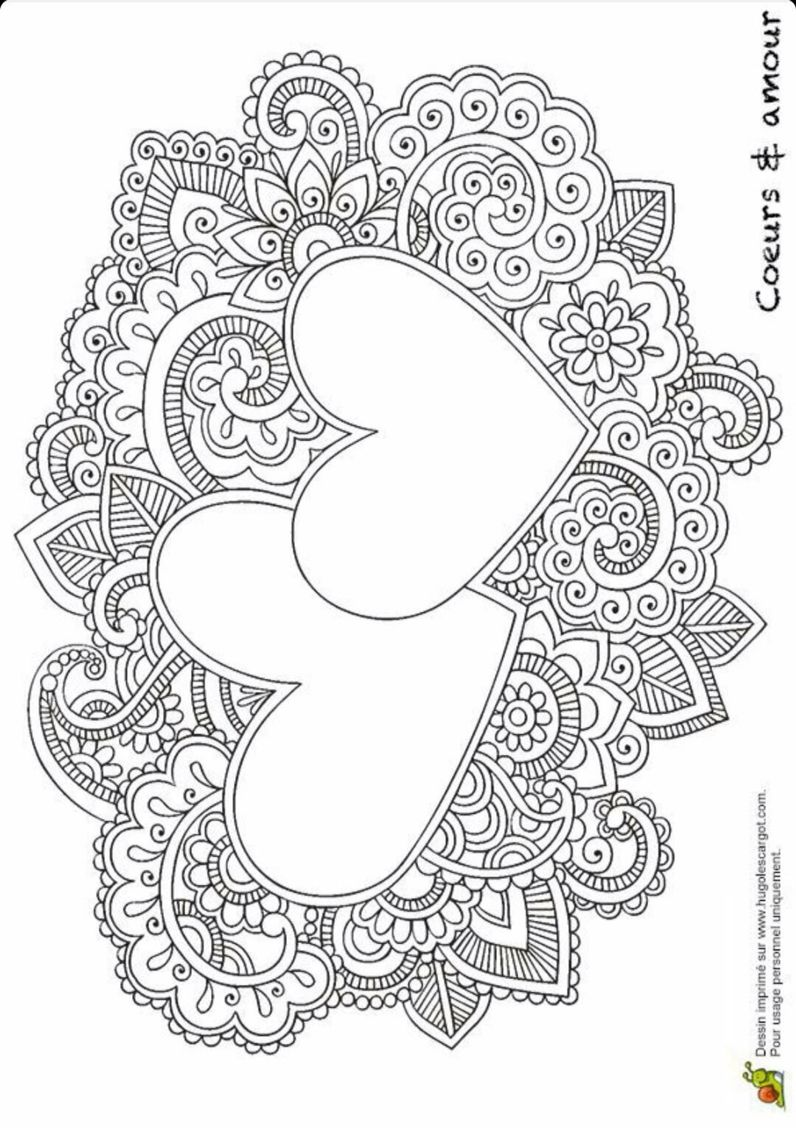 Kleurplaat Hartjes Sketch Pinterest Coloring Pages Mandala