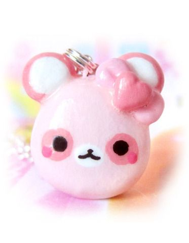 $11 Kawaii pink panda necklace! #kawaii #cute #jewelry #accessories #shopping #necklace #panda #pink #pastel #heart