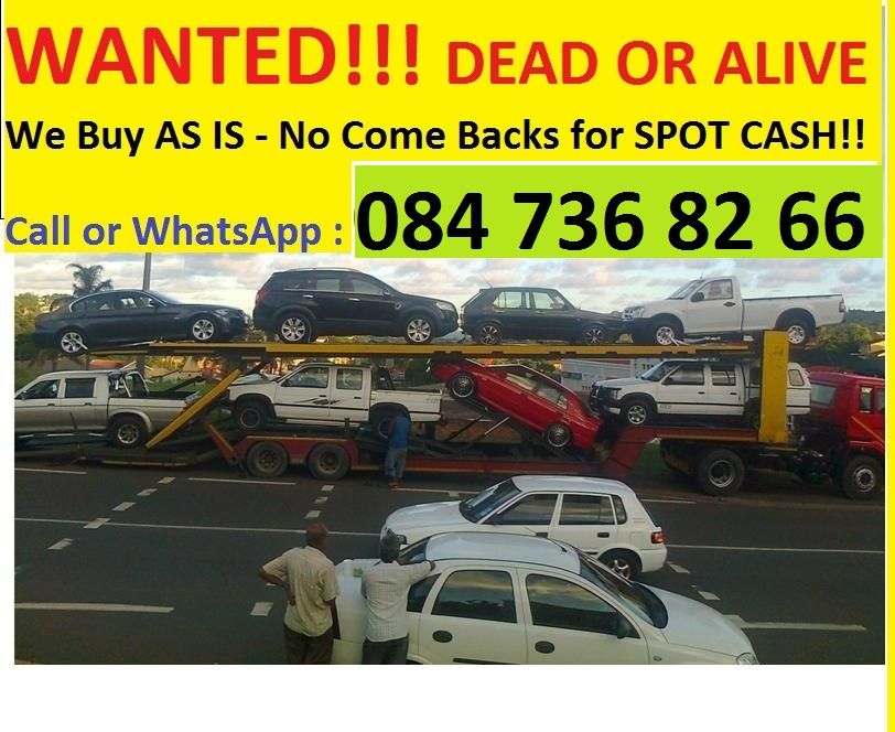 We buy Cars and bakkies **ALL OVER KZN** We come to you