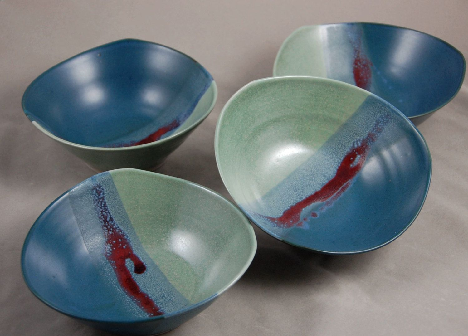 the  best contemporary dinnerware ideas on pinterest  photo to  - bowls set of  in aqua teal blue and red soup salad side bowl contemporarydinnerware