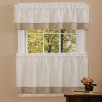 Kitchen Curtains Kohls Best Damascus Knives Oakwood Flower Tier For The House