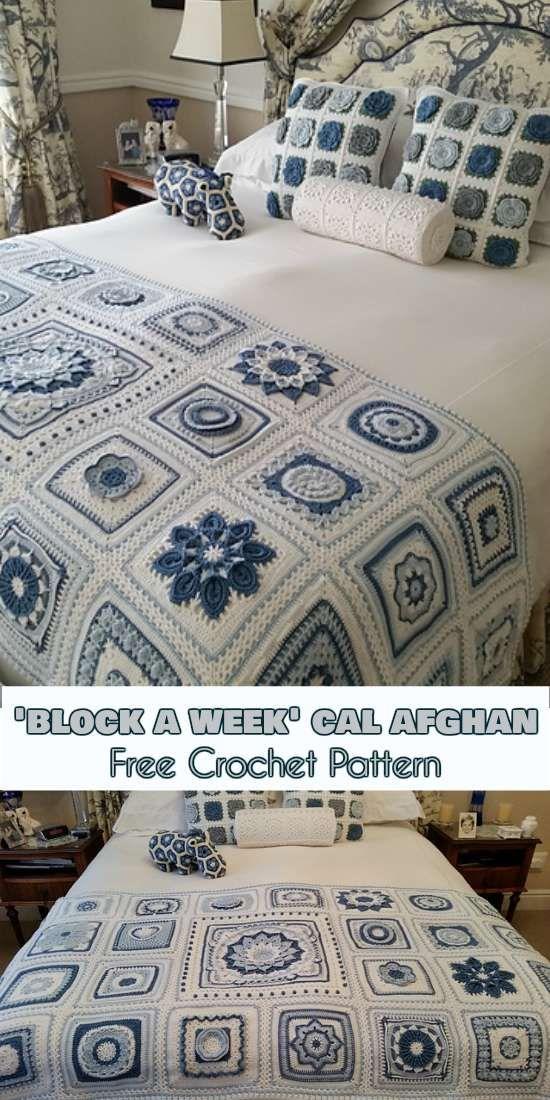 Block a Week\' CAL Afghan [Free Crochet Pattern]   plaids en spreien ...