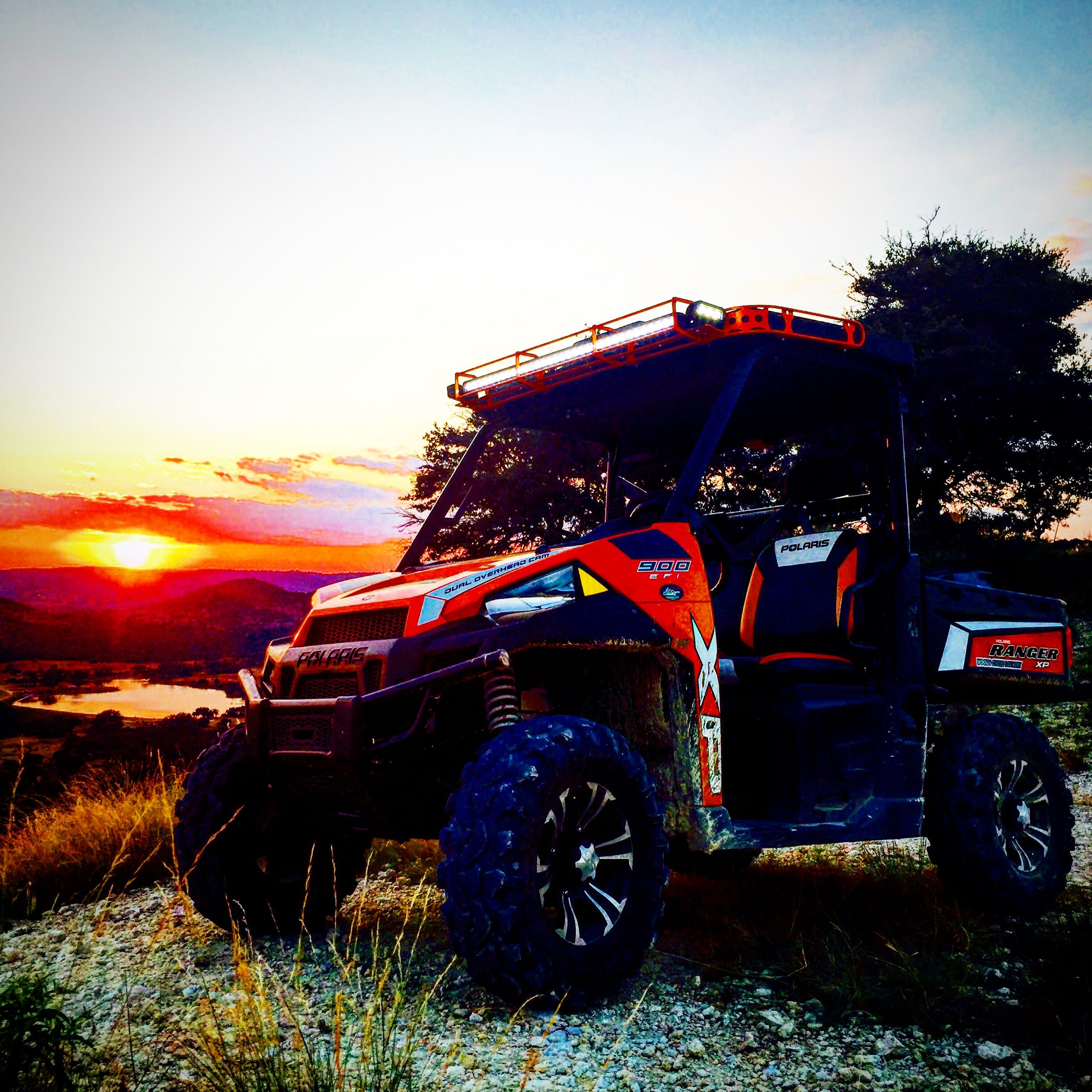 One of our Rangers out enjoying a nice Texas Hill Country sunset. #WoodsCycleCountry #WC3