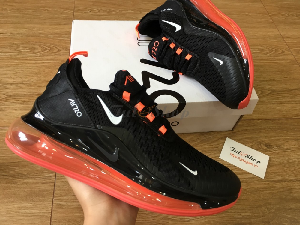 Giày Nike Air Max 720 V2 Black Red Đen Đỏ Nam Replica 1