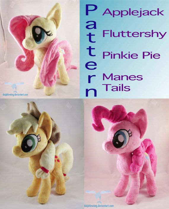 Instant Download Pony Mane and Tail Sewing Pattern pink yellow manes ...
