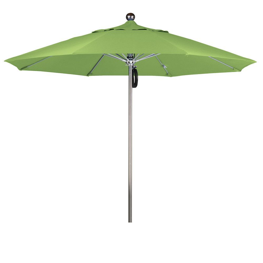 Eclipse Collection 9'SSteel SinglePole FGlass Ribs Market Umbrella Anodized/Pacifica/Ginkgo