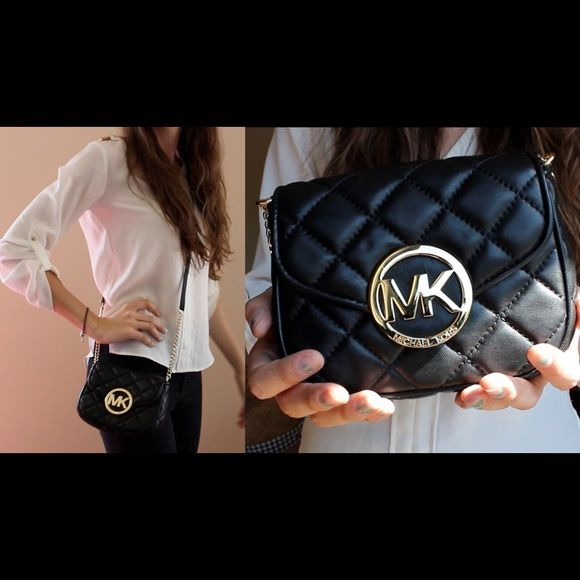 NWT Michael Kors Fulton Quilted Leather FIRM Price NWT | Logos ... : michael kors small fulton quilted crossbody - Adamdwight.com