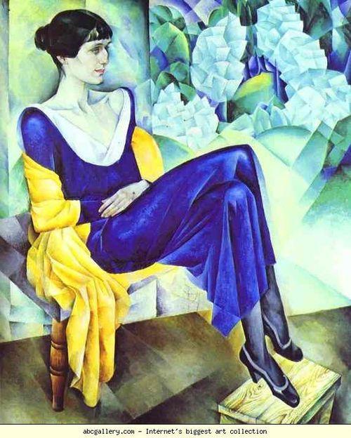 Nathan Altman. Portrait of Anna Akhmatova. 1914
