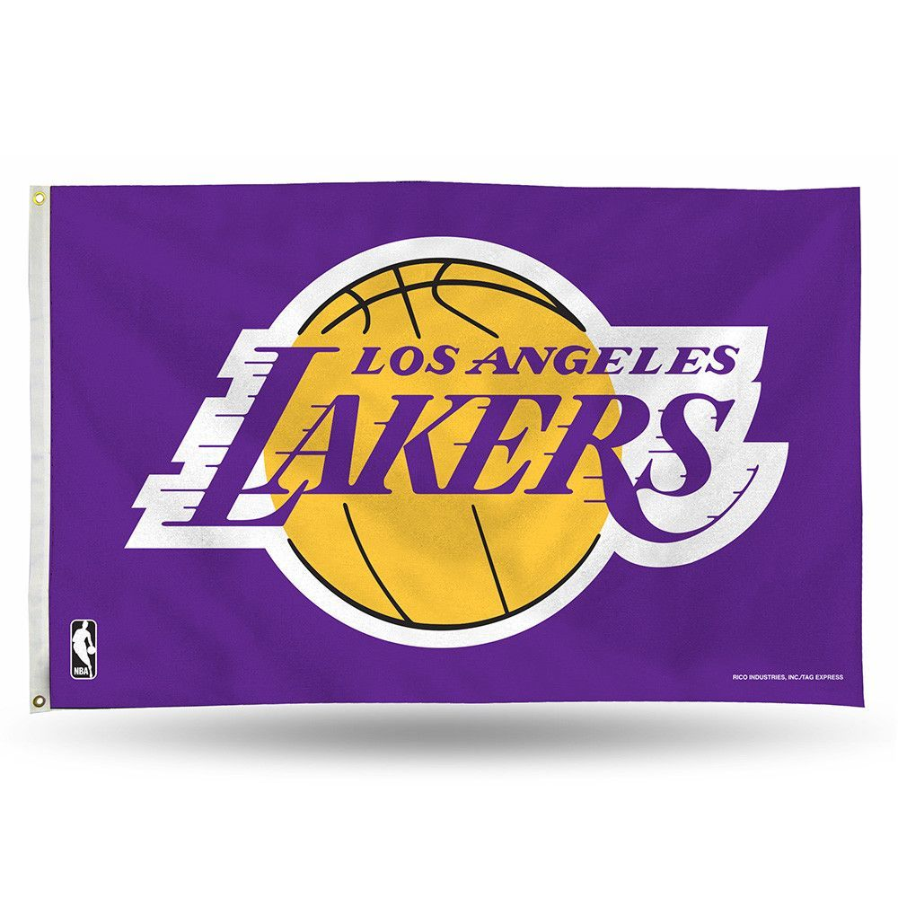 Los Angeles Lakers Nba 3ft X 5ft Banner Flag Lakers Basketball Los Angeles Lakers Logo Lakers Logo
