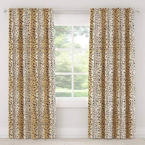 Cloth Co Unlined Linen Leopard Light Filtering Curtain Panel