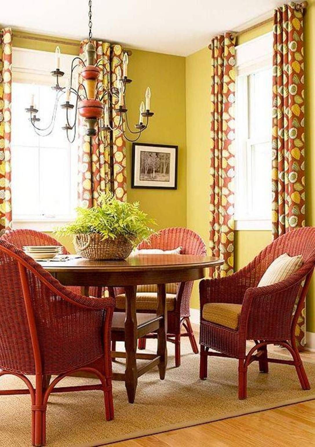 Imaginative Yellow Walls White Trim Bedroom And Tropical Dining Room ...