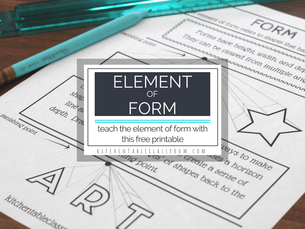The Element Of Form With Free Printable