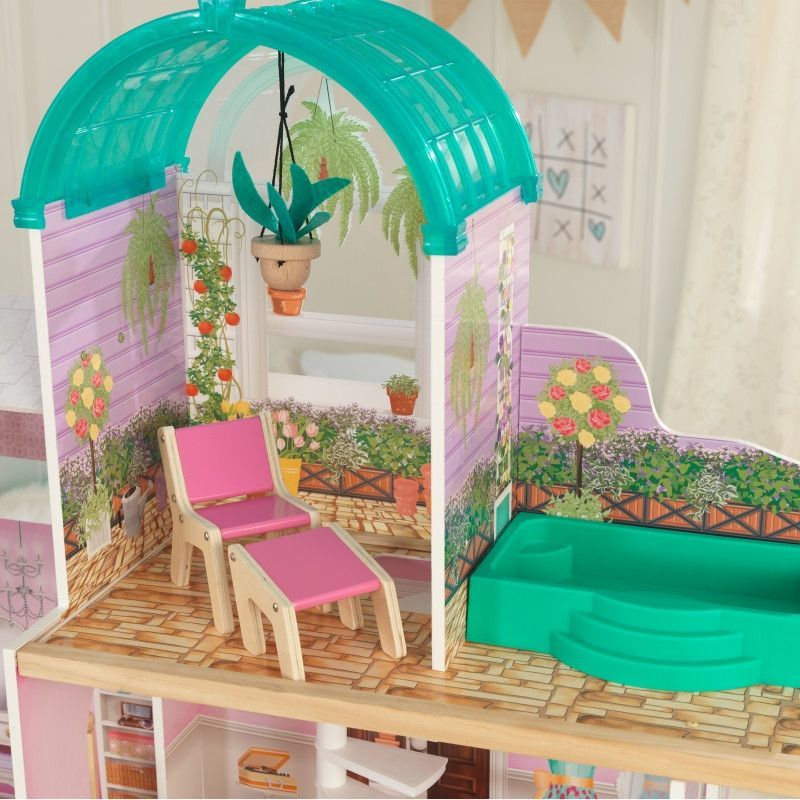 Rosewood Mansion Dollhouse With Ez Kraft Assembly Monster High