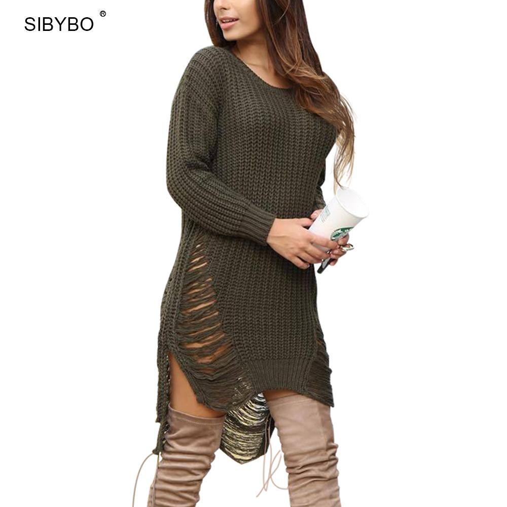 Sibybo Oversized Sweater Women 2017 New Autumn Winter Loose Long ...