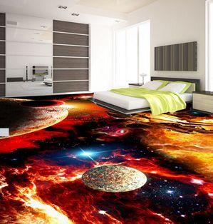 3d Universe Liquid Tile Floor Non Slippery Surface Having Galaxy Themed Design For Bedroom Interior Floor Murals Flooring Floor Wallpaper