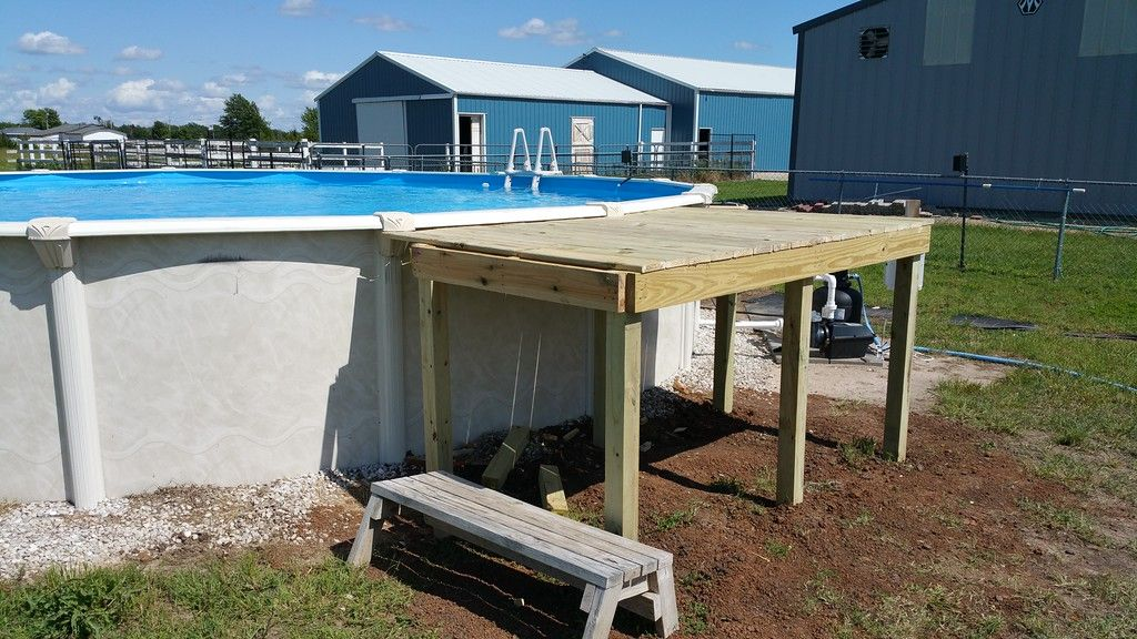 how to build a pool deck cheap