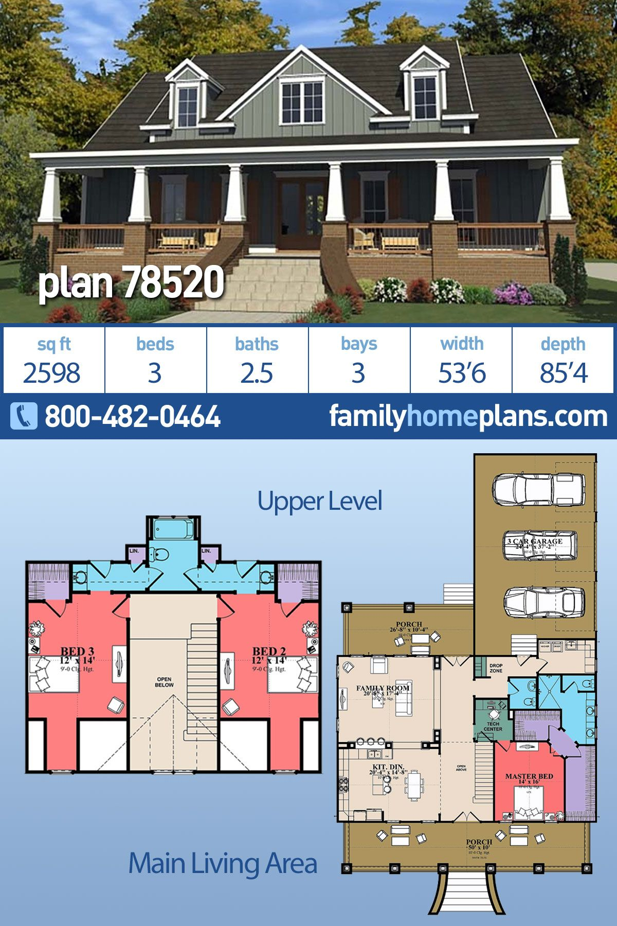 Craftsman Style House Plan 4 Beds 4 5 Baths 4208 Sq Ft Plan 892 3 Craftsman House Plans Craftsman Style House Plans Rustic House Plans
