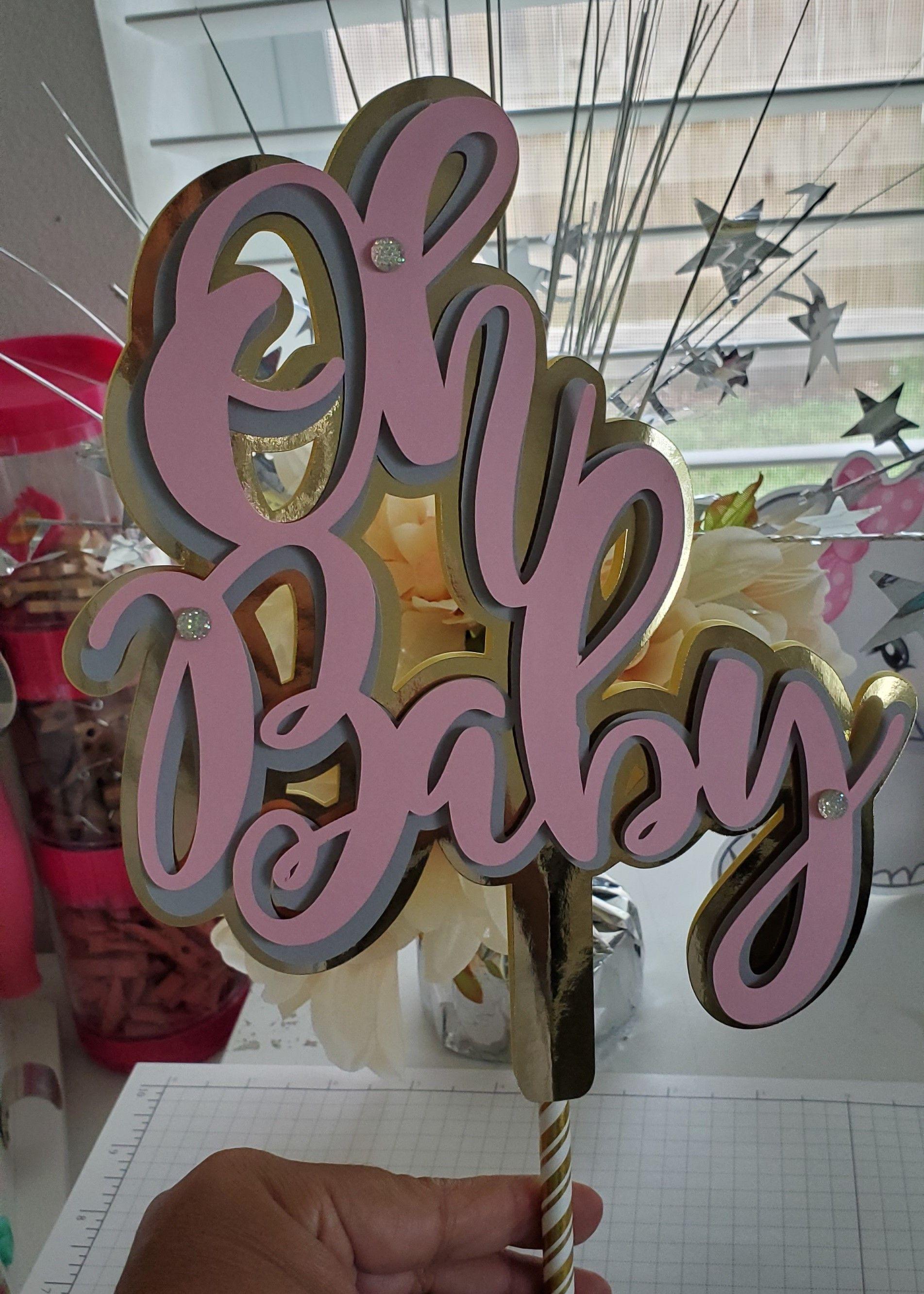 Baby shower cake topper baby shower girl cake topper
