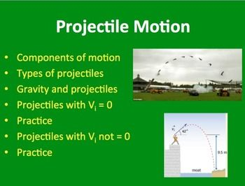 Projectile Motion Physics Powerpoint Lesson Notes Physics
