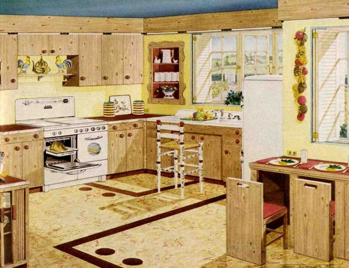 Best 1950 S Kitchens And Some Bathrooms Too Vintage Kitchen 400 x 300