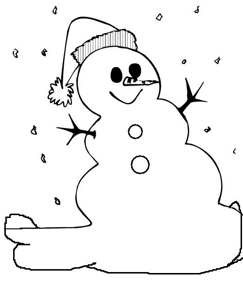 simple snowman coloring pages | free eGreeting cards from Fun with ...