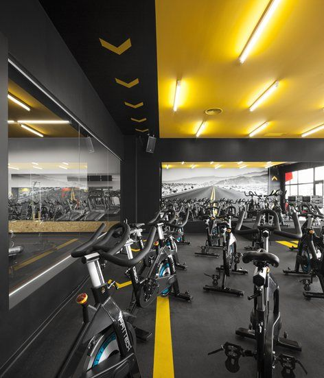Gym Interior Fitness Design And: Kalorias Club Montijo, Setubal, 2015