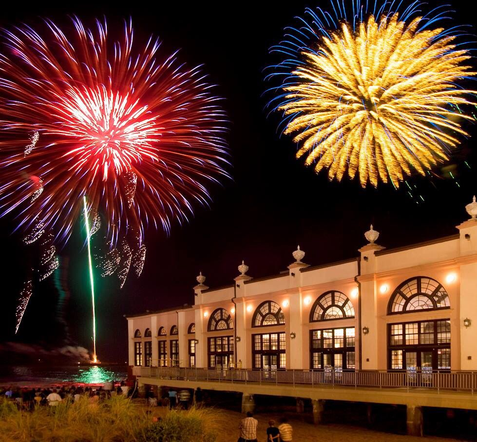 Fireworks,by the OC Music Pier, on the Boardwalk. Ocean