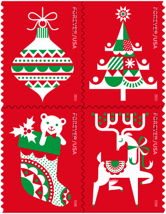 Usps Announces 2020 Holiday Stamps In 2020 Holiday Stamping Christmas Stamps Holiday