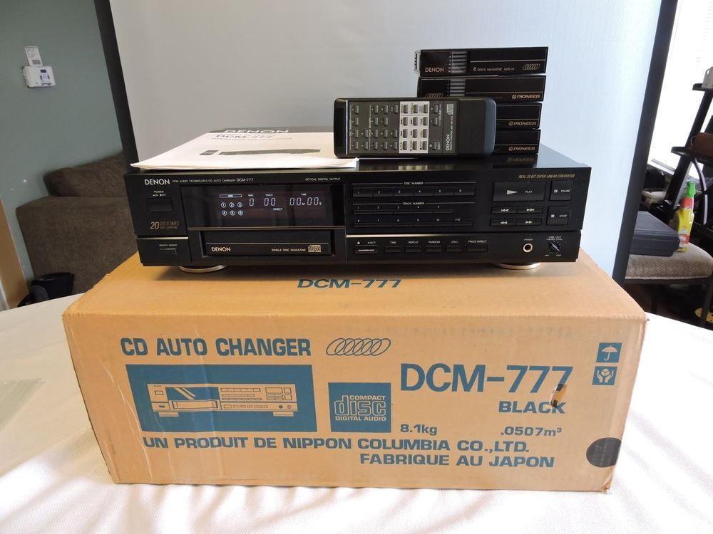 Denon dcm 777 6 disc cd auto changer iob w remote 4 cartridges denon dcm 777 6 disc cd auto changer iob w remote 4 publicscrutiny Images