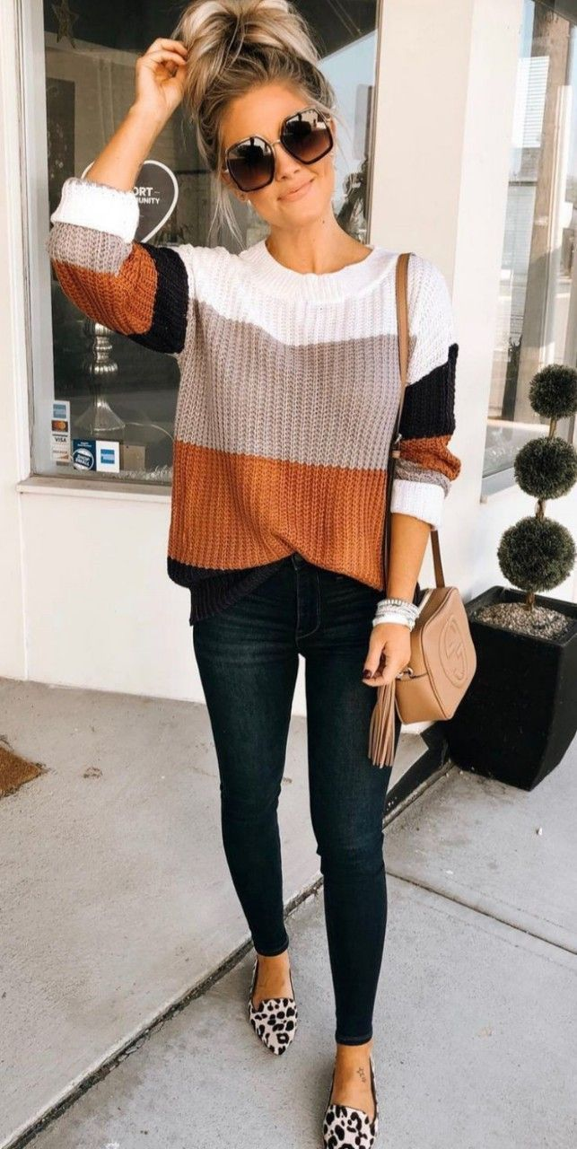 perfect autumn outfit: striped sweater, leopard flats and a chic shoulder bag -  perfect autumn outfit: striped sweater, leopard flats and a chic shoulder bag, #a #flats #striped # - #autumn #bag #Chic #FallOutfitscardigans #FallOutfitsforchurch #FallOutfitsforphotoshoot #FallOutfitsideas #FallOutfitsparty #FallOutfitstumblr #flats #lazyFallOutfits #Leopard #mensFallOutfits #outfit #perfect #Shoulder #Striped #sweater