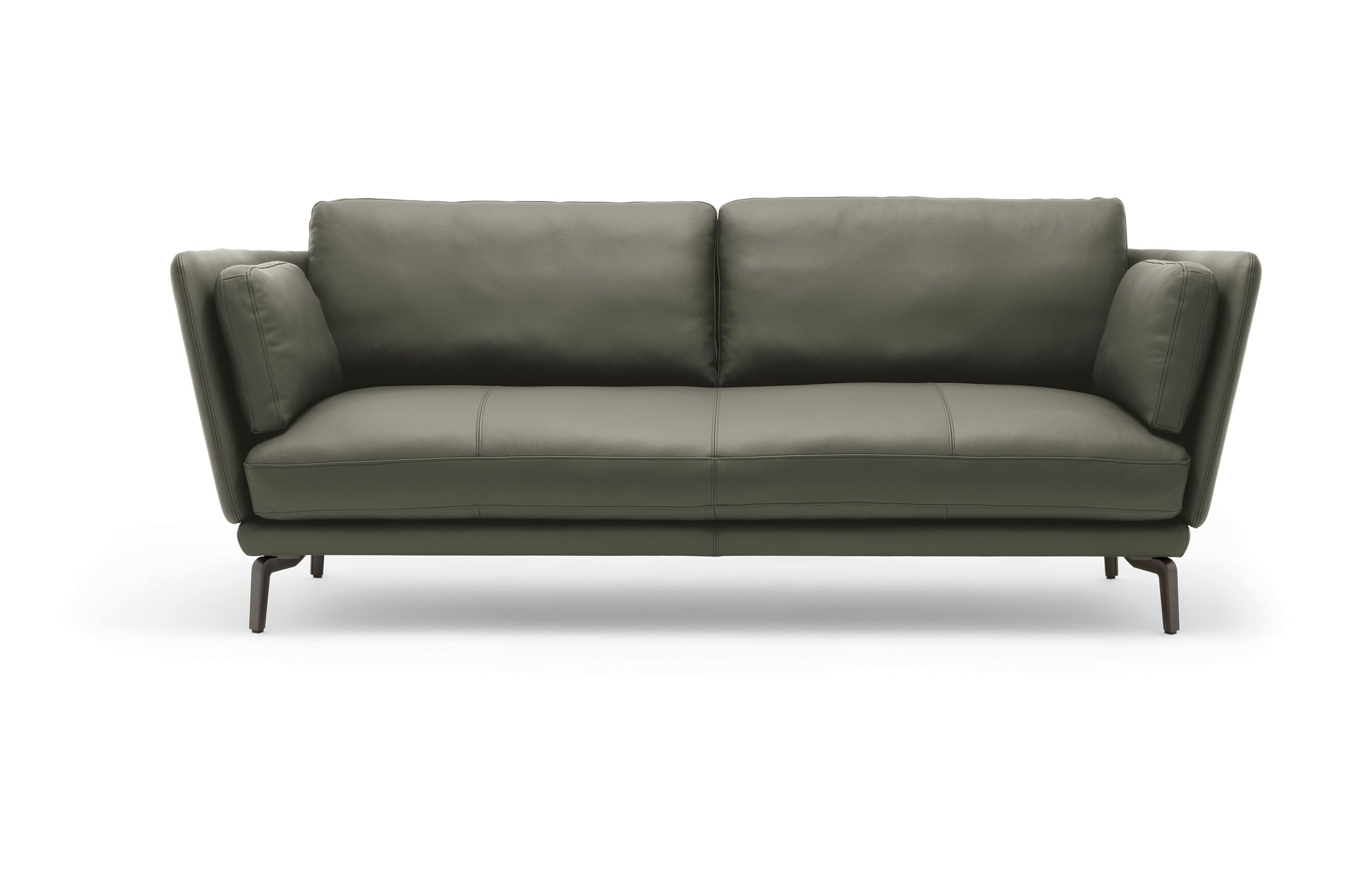 The new Rolf Benz RONDO sofa is also available in leather