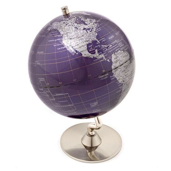 A purple twist to the traditional globe