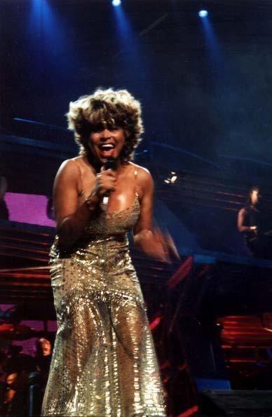 Tina Turner Gold Dress