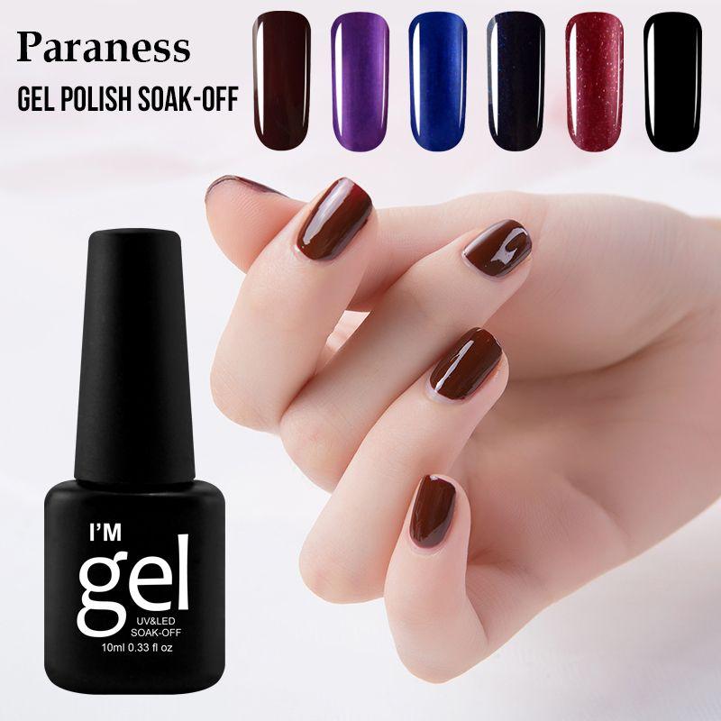 Paraness 10ml Long Lasting New Style Nail Gel Polish Soak Off UV Led ...